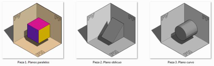 Proyección de planos. Planos paralelos | Dibujo Técnico