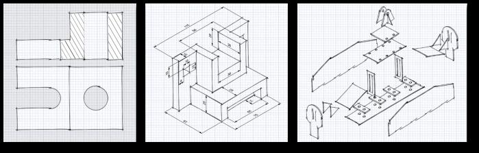 Croquización 3 piezas 0