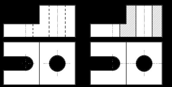 Cortes Y Secciones Dibujo Técnico