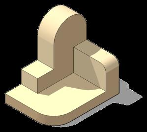 Planos curvos paralelos a los 3 planos de proyección. Pieza 504