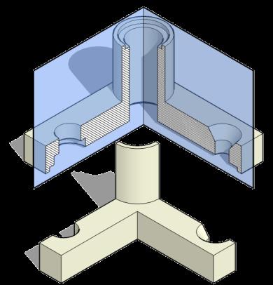 Representación de piezas. Corte por giro