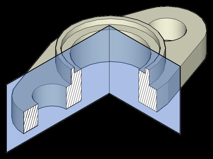 1. Representación de piezas. Semicorte